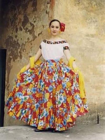 Traje Tipico De Tabasco Vestidos Tipicos De Mexico