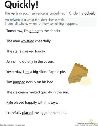 Image Result For Adverb And Adjective Worksheet 4th Grade 4th