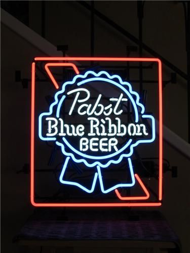 Neon Bar Signs For Sale Pabst Blue Ribbon Neon Beer Sign For Sale  Httpbitlypbrneon