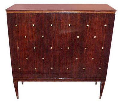 Paolo Buffa 1940 S Cabinet With Inlaid Brass Stars I Put This Under Beautiful Things Because This Is Completely And Totally Unatt Paolo Buffa Furni
