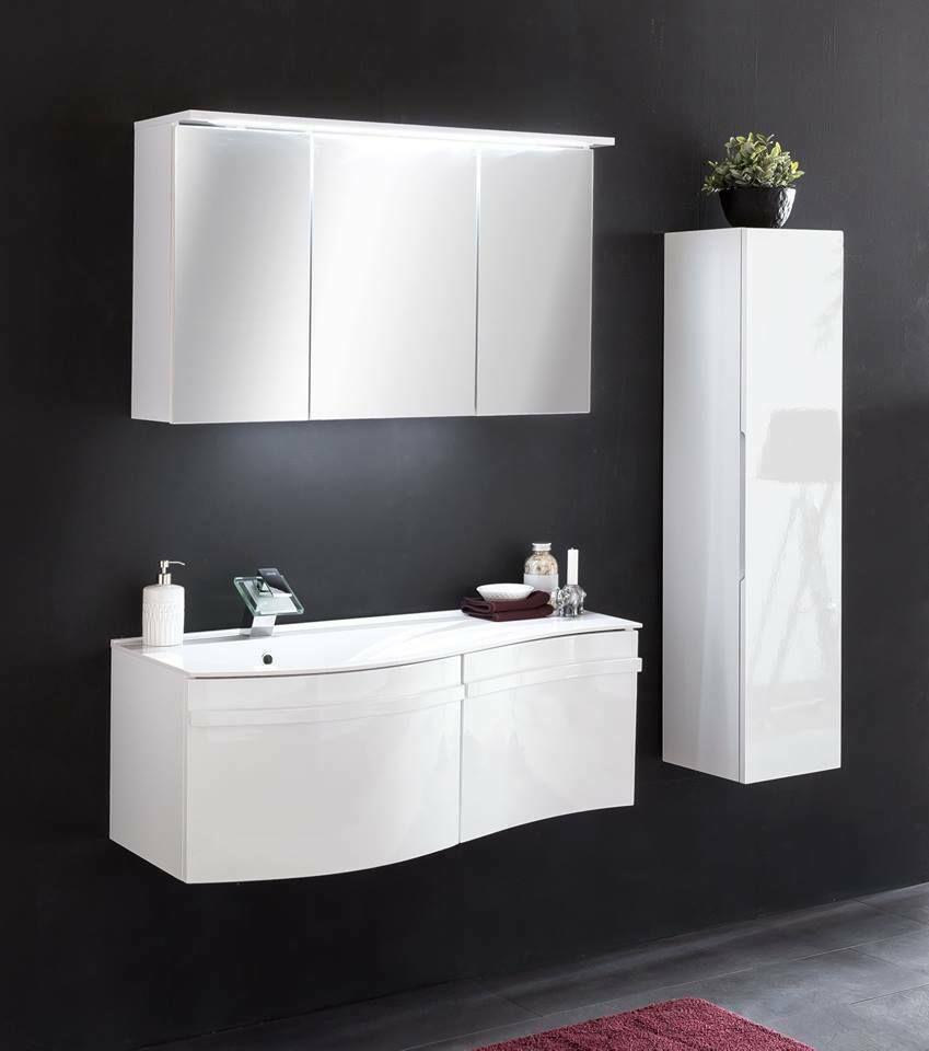 Badmobel Badezimmer Set Waschplatz Hangeschrank Unterschrank Hochglanz Weiss Ebay In 2020 Badezimmer Set Unterschrank Hochschrank
