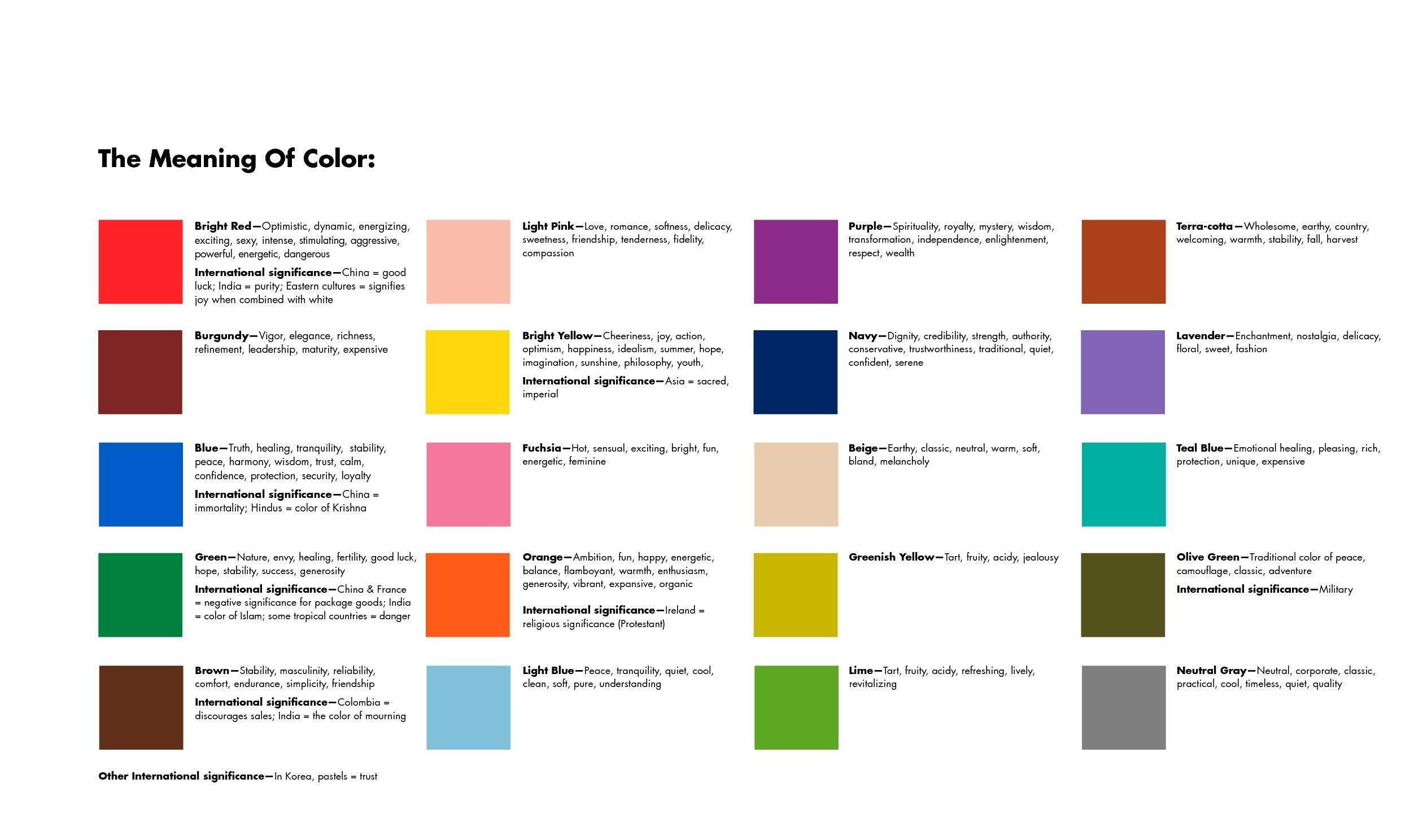 colormeaning Color meanings