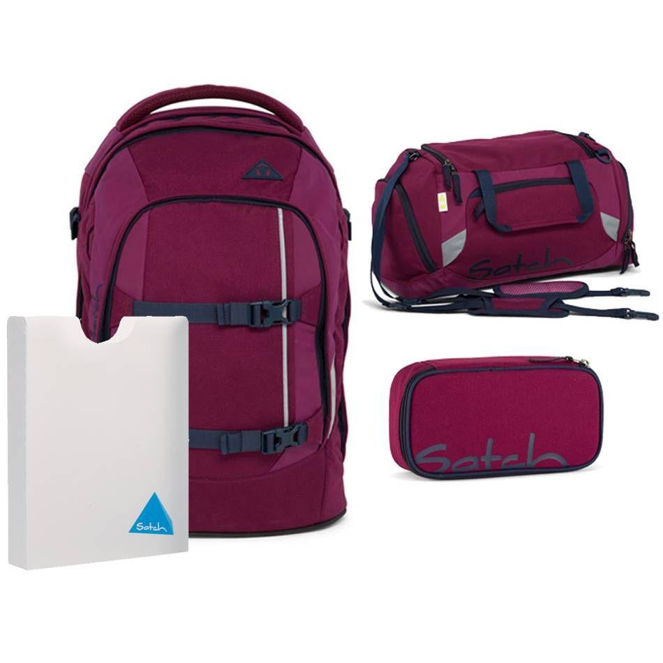 satch pack schulrucksack set 4tlg pure purple mode. Black Bedroom Furniture Sets. Home Design Ideas