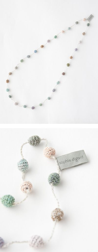 sophie digard crocheted necklace | crochet jewelry