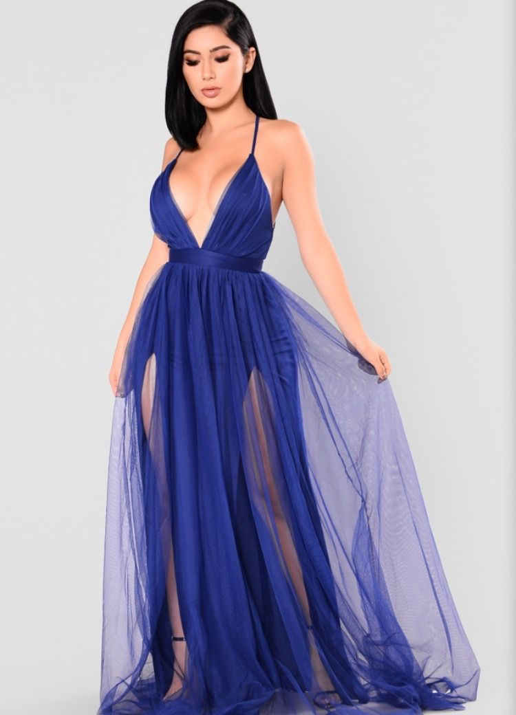This color >>>> Royal blue dresses, Maxi dress, Winter