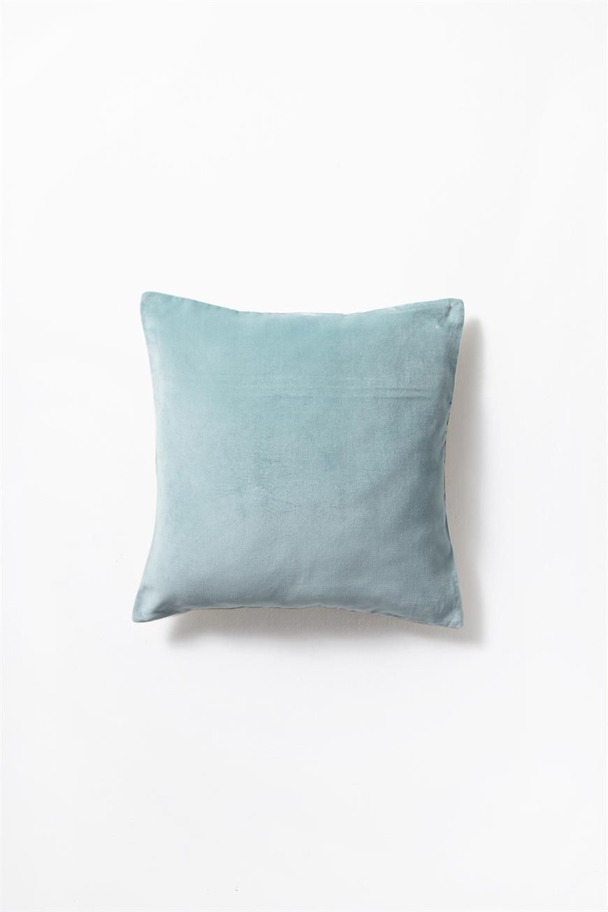Made From 100 Percent Cotton Velvet Chambray This Square Cushion Is A Luxurious Addition To Any Sofa Or Bed Featuring A Rev With Images Cushions Cotton Velvet Chambray
