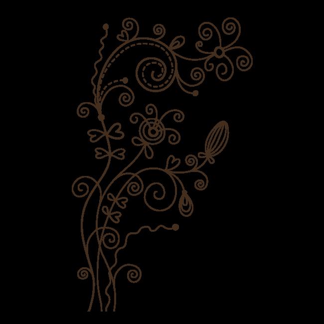 Pegatina Pared Blütenranke* Flores Zarcillo Pegatina de Pared