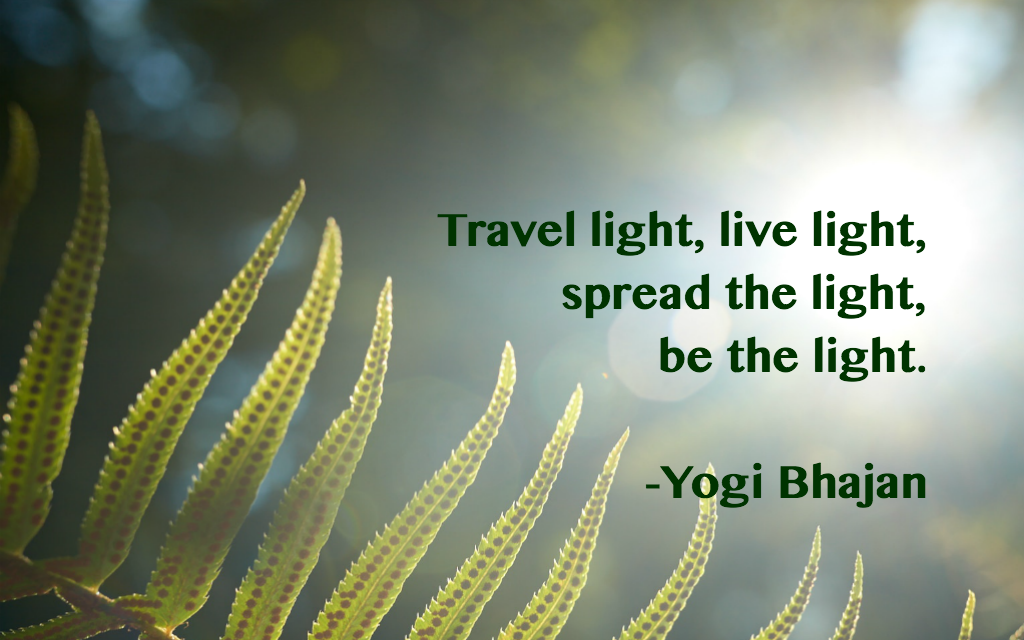 Light Quotes New Bhajan Quote Travel Light…  Reflect  Pinterest  Travel Light And