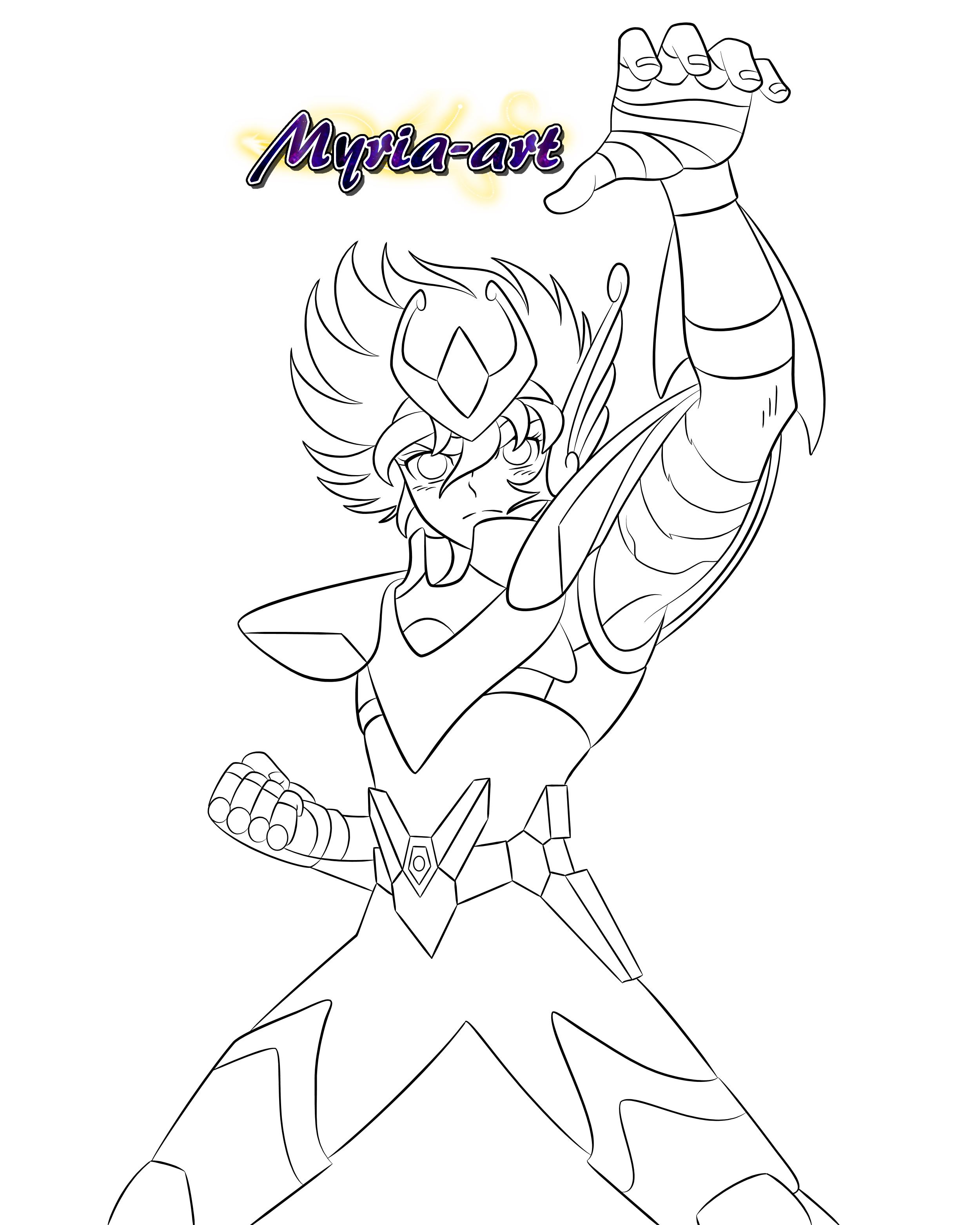 Fanarts Saint Seiya Pharaon Website Dragon Ball Super Manga Saint Seiya Linear Art