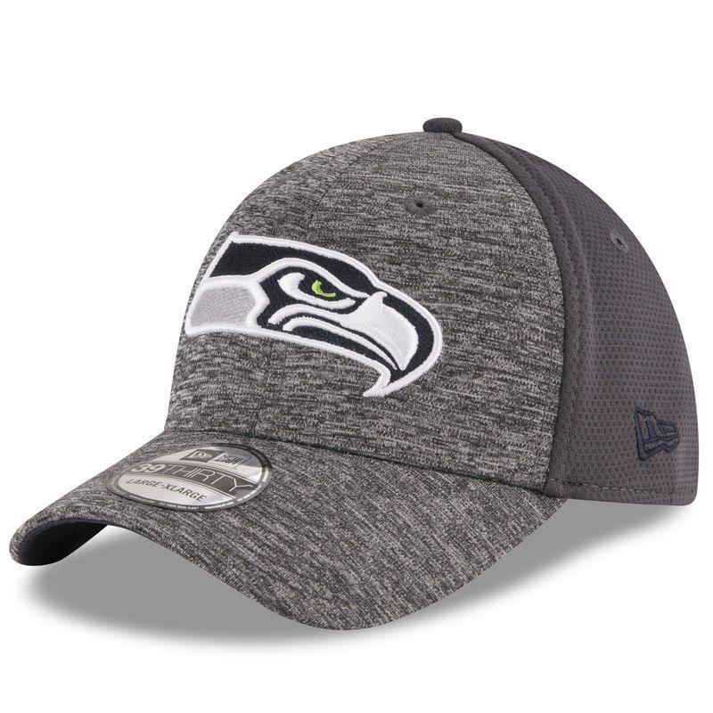 lowest price fee6f a01e1 Seattle Seahawks New Era Shadowed Team 39THIRTY Flex Hat - Heathered  Gray Graphite