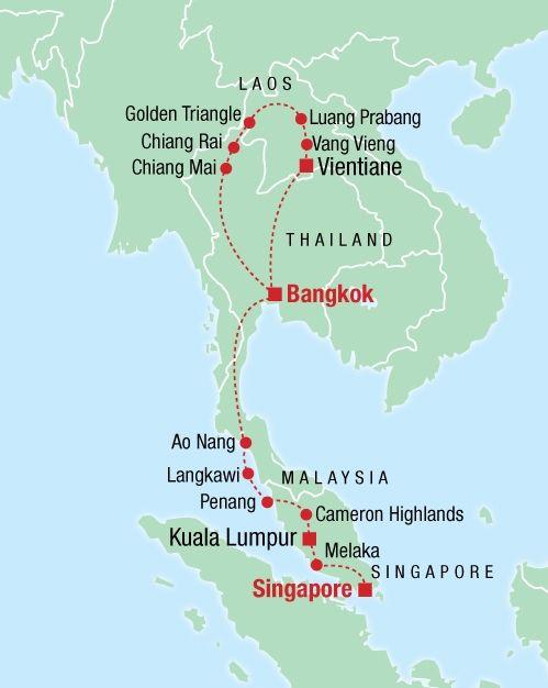 Bangkok Via Laos To Singapore Tour Thailand Malaysia Availability