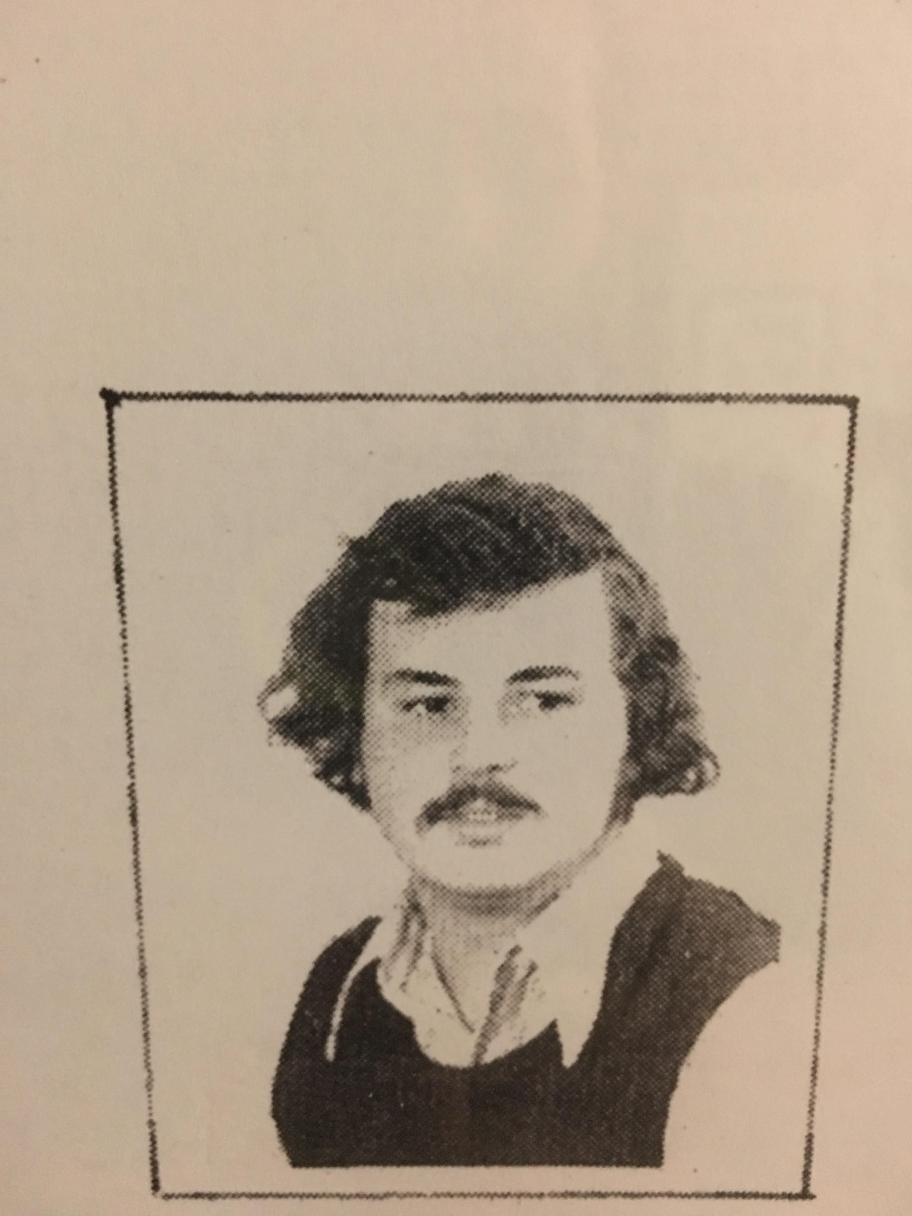 This picture off a posite from 1974 in my fraternity house Pablo Escobar stunt double