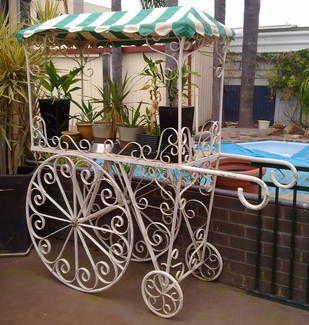 Wrought Iron Flower Cart Flower Cart Wrought Iron Design