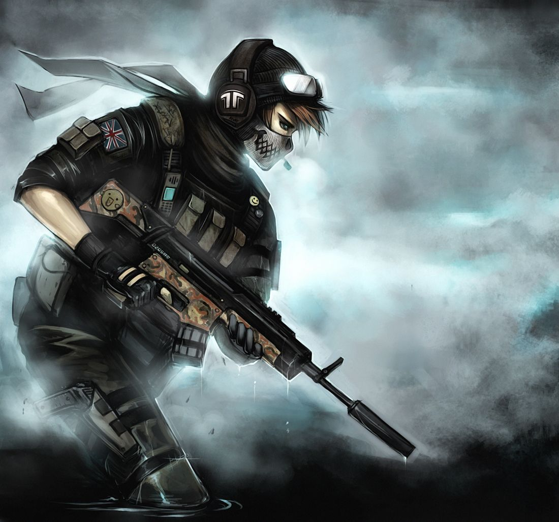 Ghost By Ninjatic Deviantart Com On Deviantart Anime Military Call Of Duty Anime People