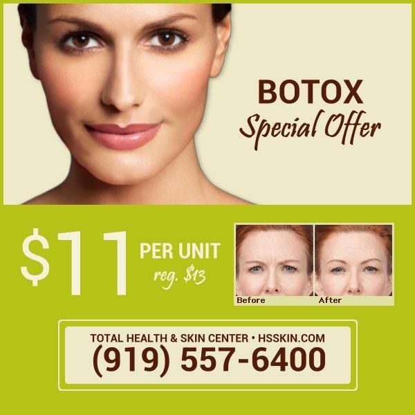 Botox Offer Skin Center Skin Health Spa Specials