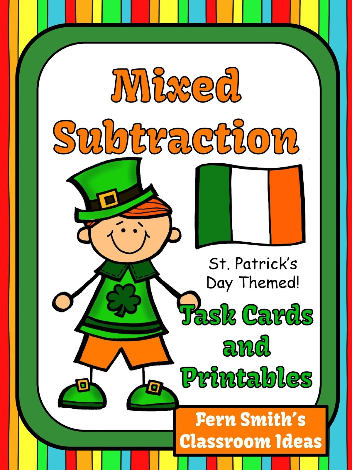 St Patrick S Day Mixed Subtraction Task Cards And