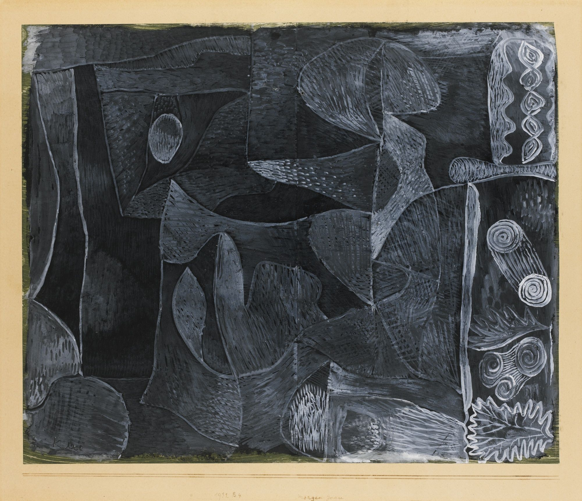 Paul klee morgengrau morning grey signed klee lower