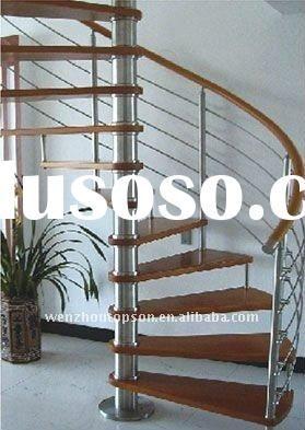 Stainless Steel Spiral Stair With Wood Step Wood Steps Spiral | Wood Steps For Sale | Wood Hand | Home | Design | Non Slip | Platform