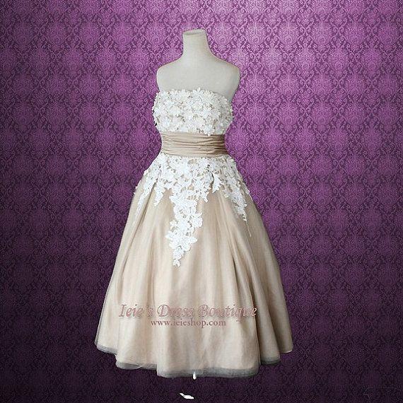 Mocha Tea Length Dress
