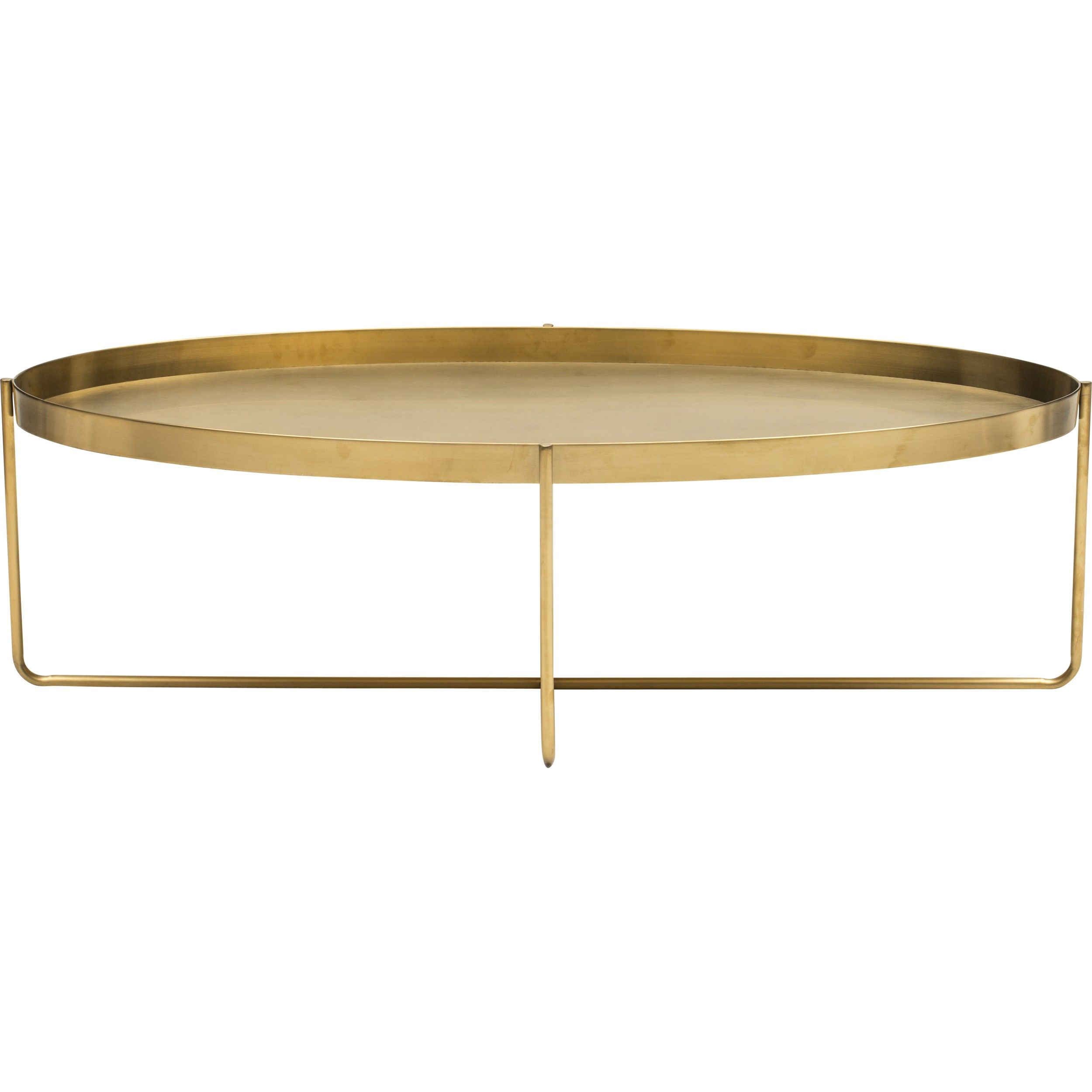 Accent Rex Meubles Gaultier Oval Coffee Table Gold Modern Love Oval Coffee