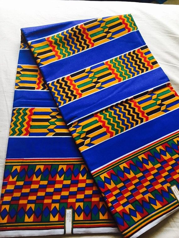 Colourful African Material Wax Print Fabric Ankara Lace in 6 Yards