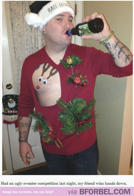 Literally The Ugliest Christmas Sweater Youll Ever See It Made