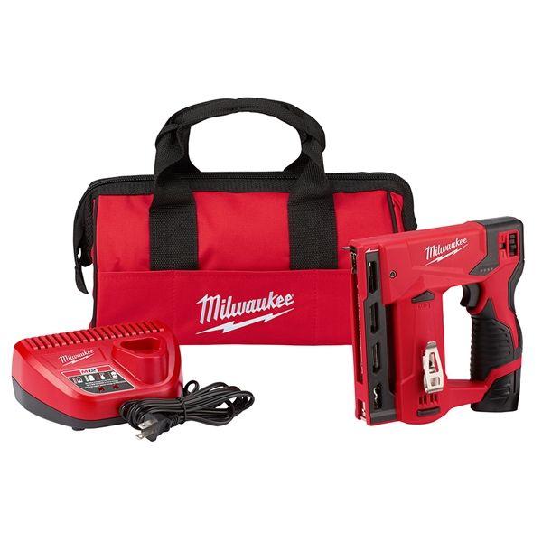 Milwaukee 2447 21 M12 3 8 In Crown Stapler Kit Milwaukee M12 Milwaukee Combo Kit