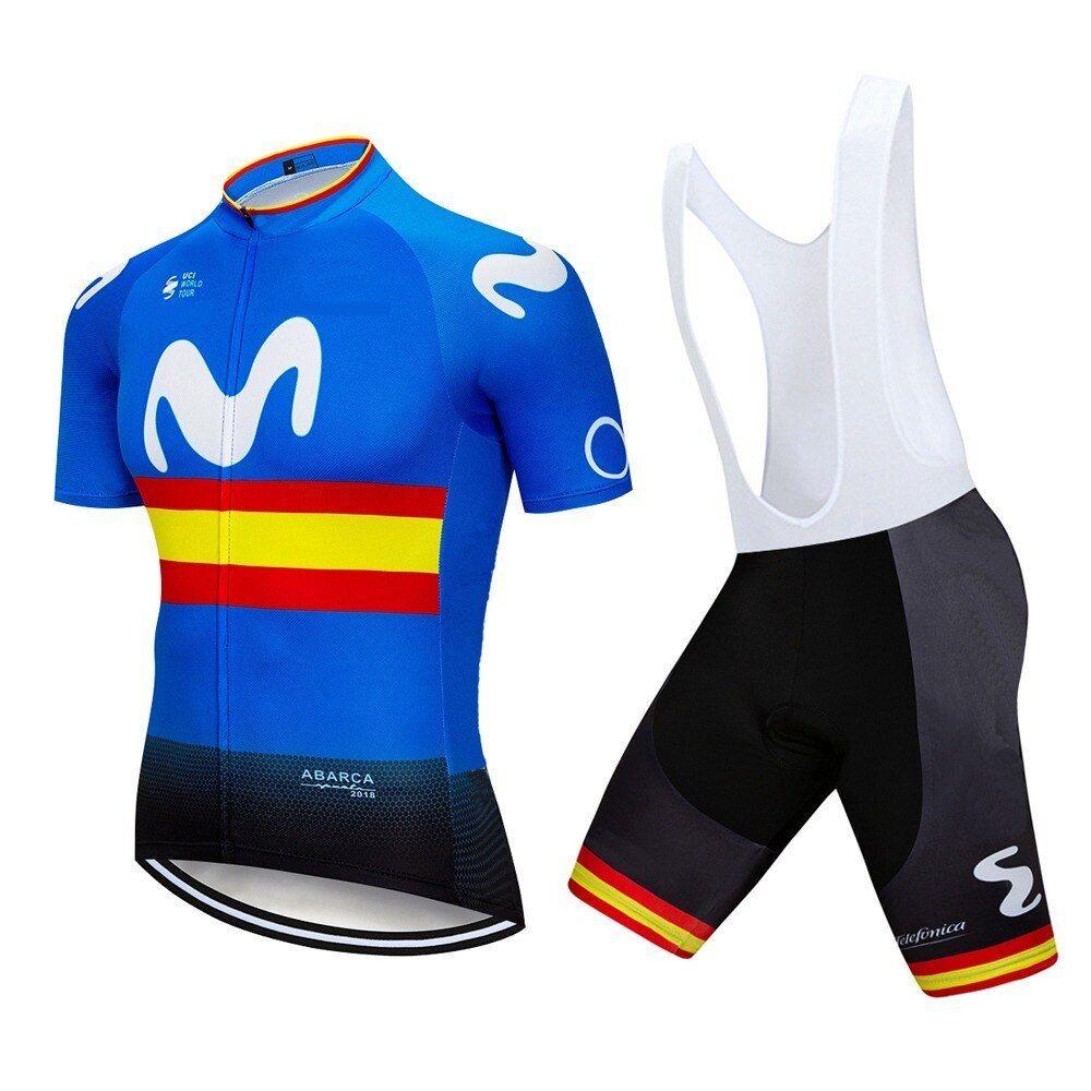 2019 Mens Cycling Jersey Bib shorts Set New Team Bike Outfits Bicycle Sportswear