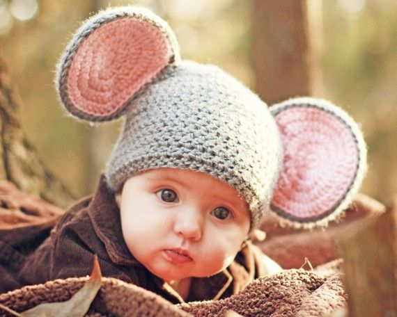 Baby Mouse Crochet Hat Pattern includes 4 sizes PDF 15 | Pinterest ...