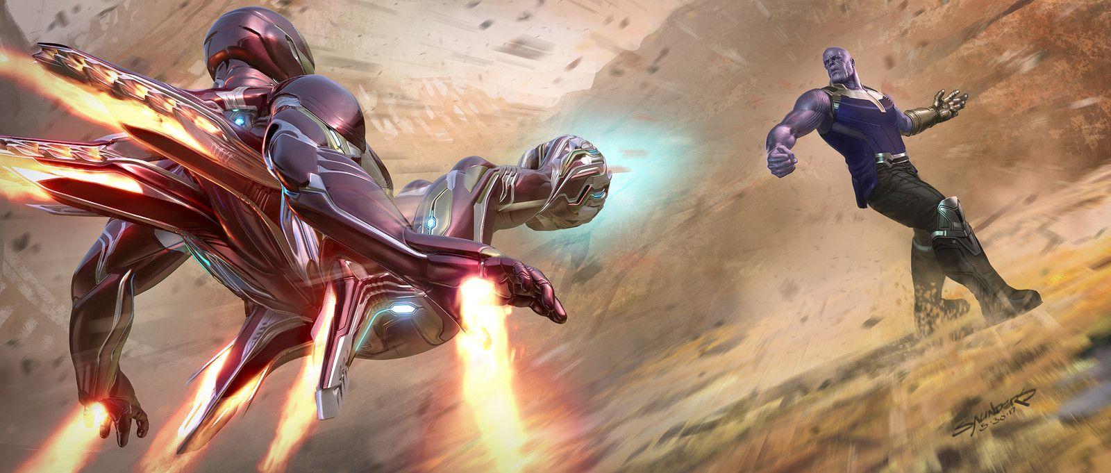Avengers Infinity War 2017 Iron Man Mk50 Vs Thanos On Titan Keyframe Phil Saunders On Artstation At Https W Star Citizen Concept Art Concept Art World