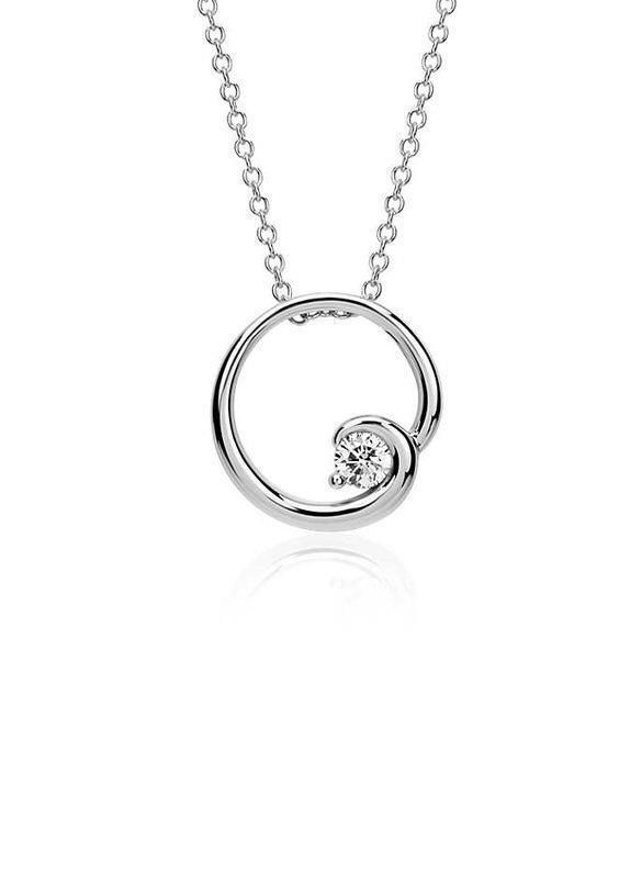 Sterling Silver Anniversary Wedding Pendnant 1.59 Ct
