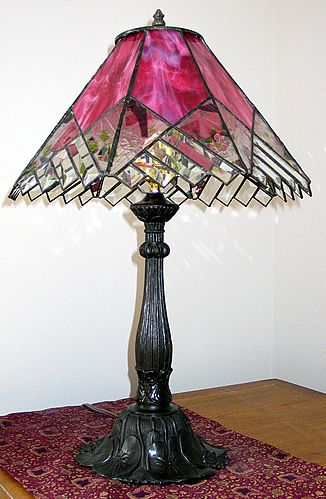 Beautiful Pink Stained Gl Lamp Is The Thing Pinterest Lamps And Lights