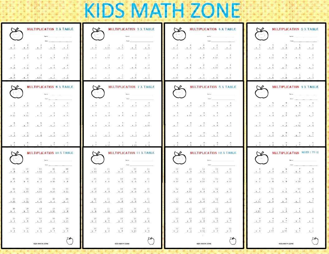 Multiplication Worksheets Printable for 2nd Grade to 4th Grade. Multiplication Worksheets. Multipli