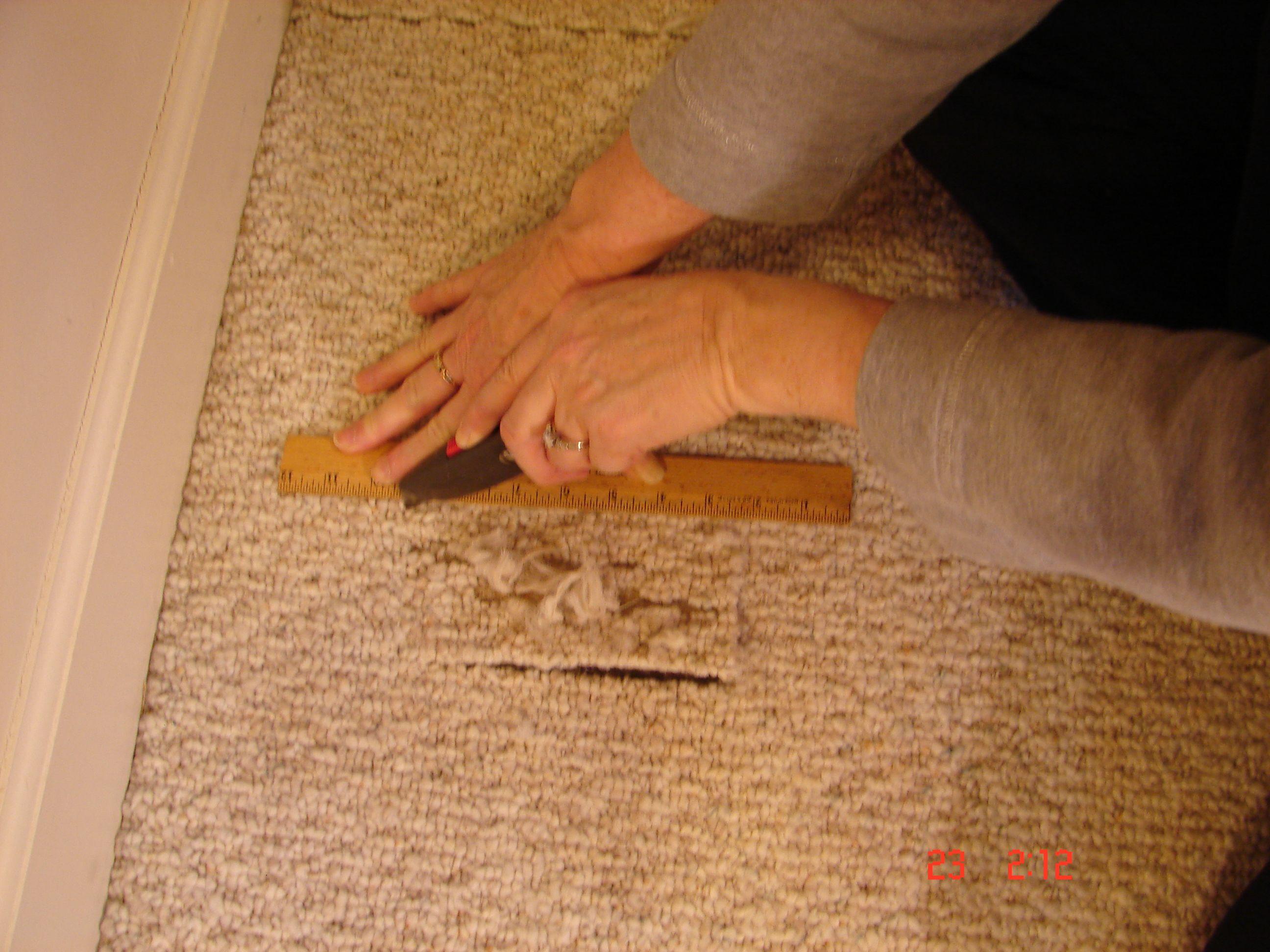How To Repair Carpet Holes And Tears Carpet Repair Diy Carpet