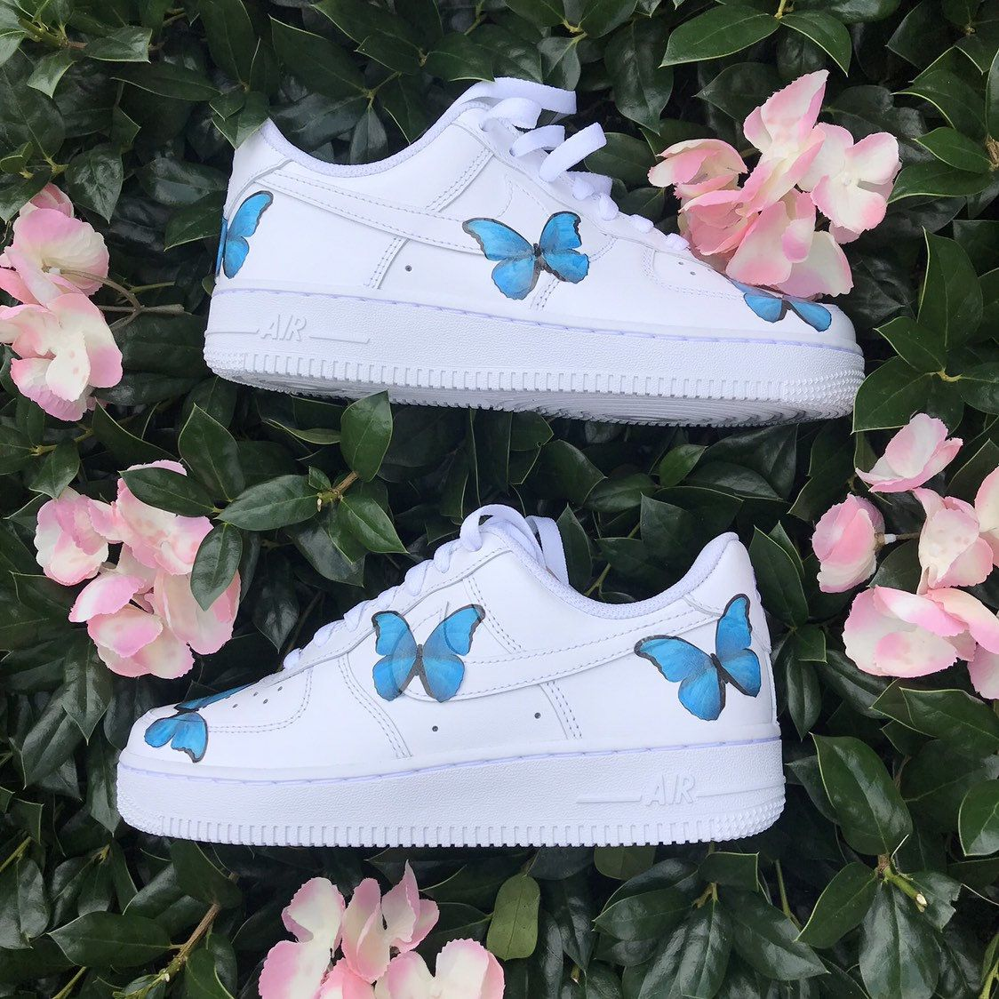 Purple Butterfly Air Force 1s Boutique Custom nike shoes