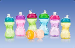 sippy cups as gifts and balloon holders