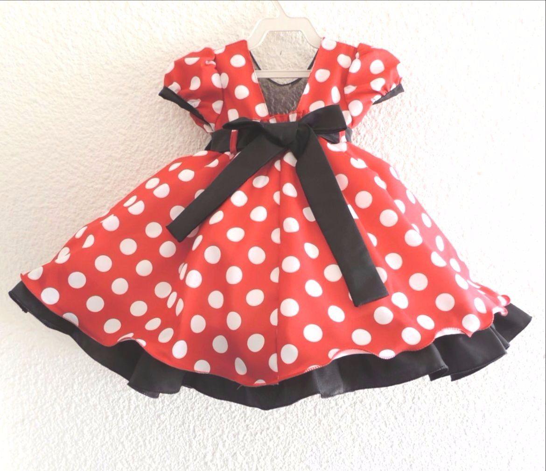 Vestido Minnie Festa Infantil E Bebe Vestido Minnie