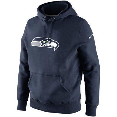 buy online b3634 bcdb4 Nike Seattle Seahawks Classic Logo Pullover Hoodie ...