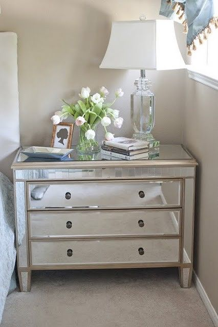 5 Bedside Styling Tips Mirrored Furniture Home Decor Home Bedroom