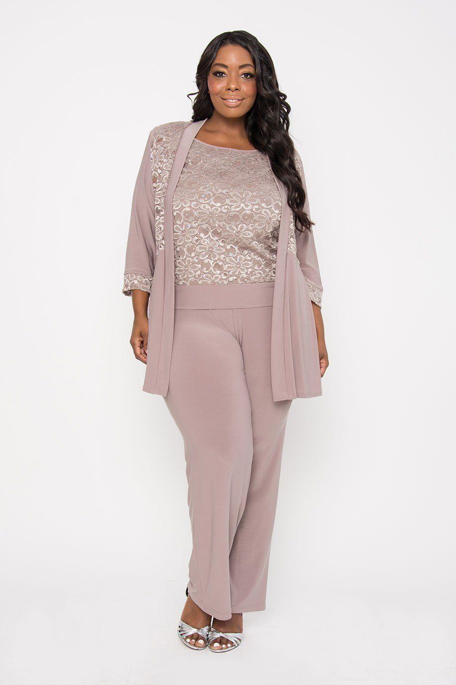 ddd30b14b9e R M Richards Mother of the Bride Formal Plus Size Pant Suit ...