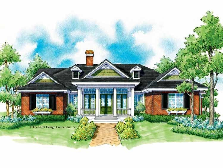 Country House Plan with 2454 Square Feet and 3 Bedrooms from Dream Home Source | House Plan Code DHSW42343