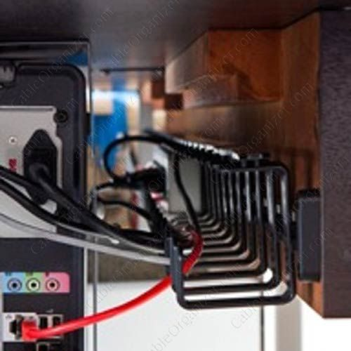 childproof your home office with under desk wire tray keep all your rh pinterest com House Wiring Mess Control Panel Wiring Mess