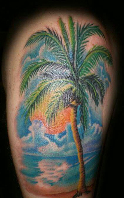 Image Result For Beach Shoulder Tattoo Palm Tree Tattoo