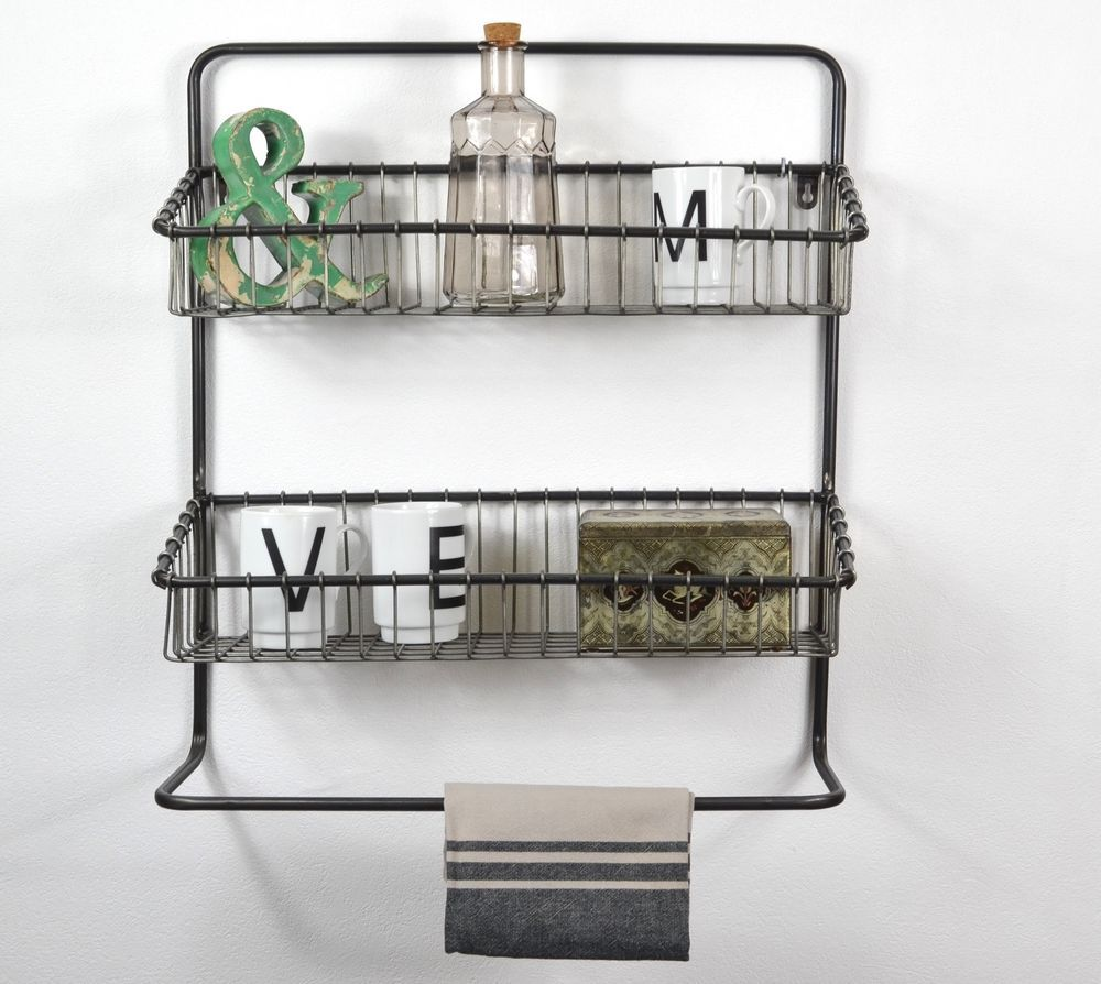 details zu hängeregal - industrie stil wandregal küchenregal