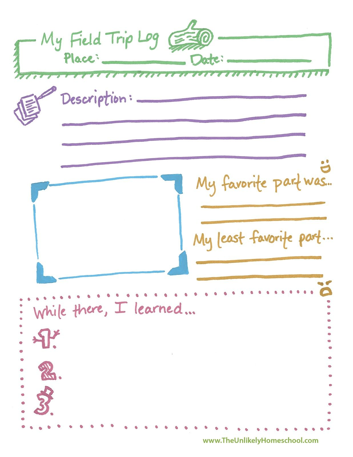 Free Field Trip Log Printable