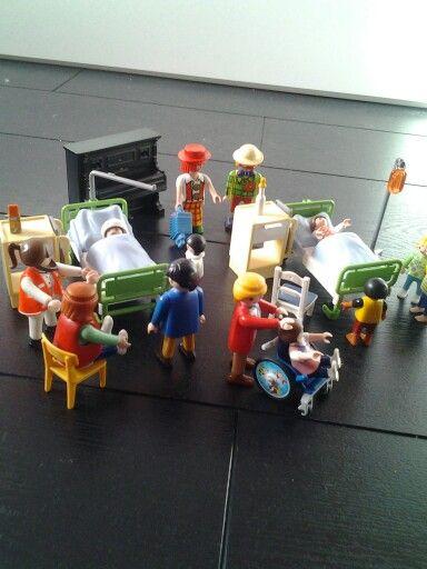 playmobile ambulance en ziekenhuis bedden thema projecten