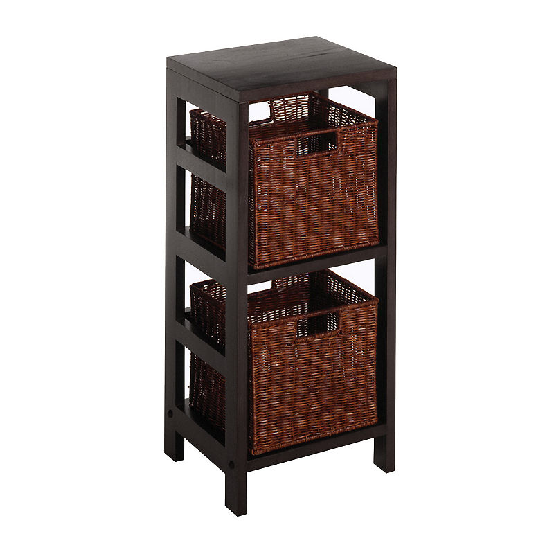 winsome leo 3pc shelf set products pinterest shelves wicker rh pinterest com