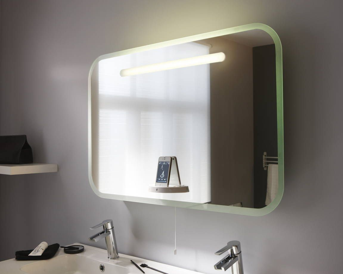 Miroir Lumineux A Led Music Mirror 90x60cm Miroir Lumineux Miroir Salle De Bain Leroymerlin Salle De Bain