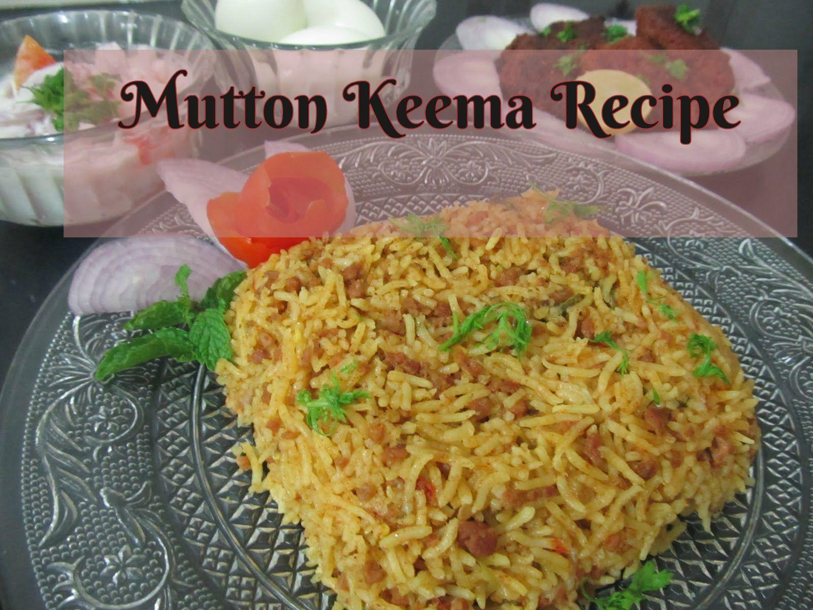 Mom S Rice Cooker Mutton Keema Pulao Goat Mince Pilaf Recipe
