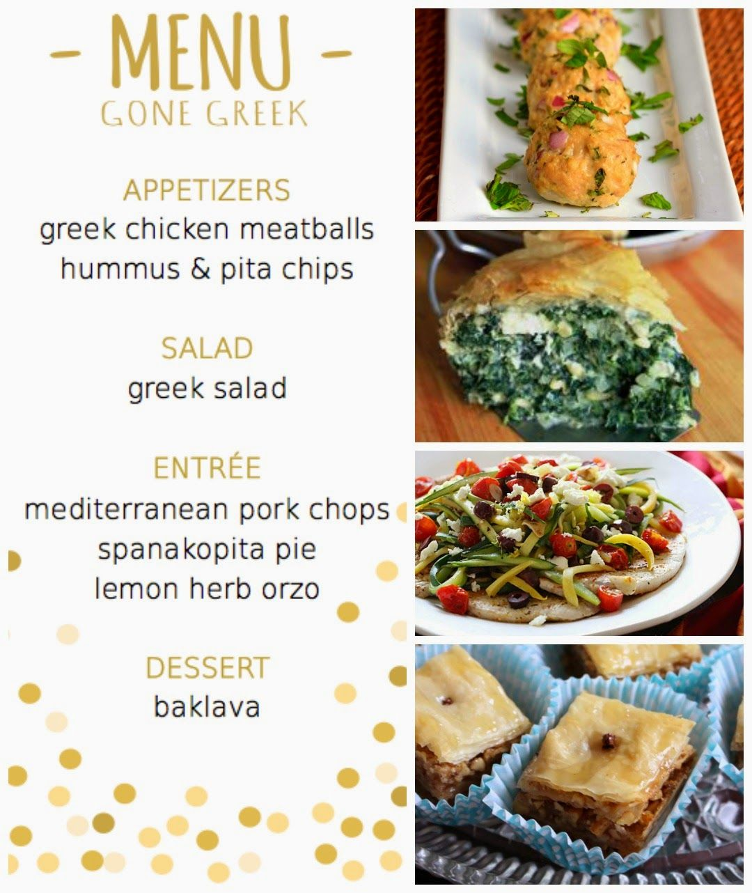 greek themed dinner party menu | dinner party ideas | pinterest | menú